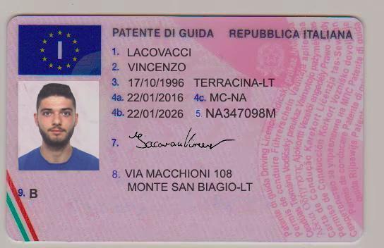 Obtenir un permis de conduire Italien en ligne